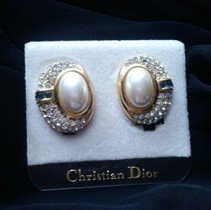 Christian Dior vintage clip-on earrings